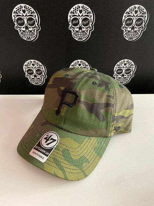 47' brand cap pittsburgh pirates camo/black