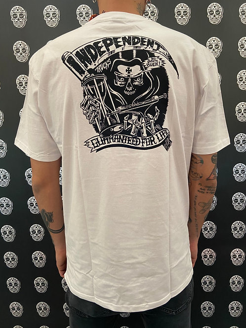 Independent reaper tee white