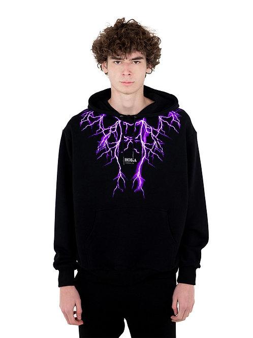 Phobia archive hoodie lightning purple