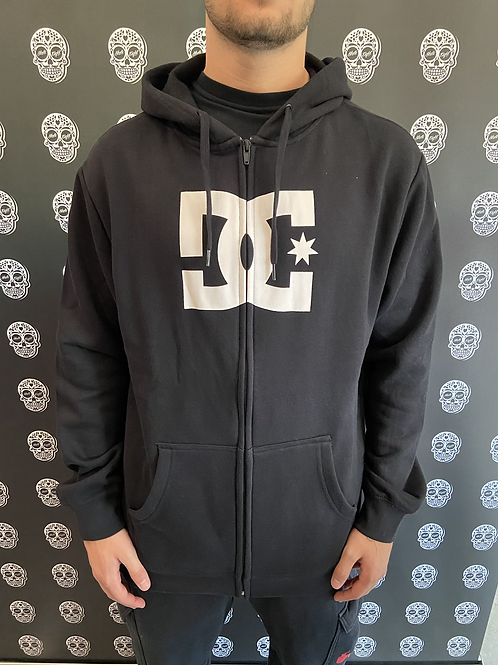DC shoes hoodie classic logo black full zip