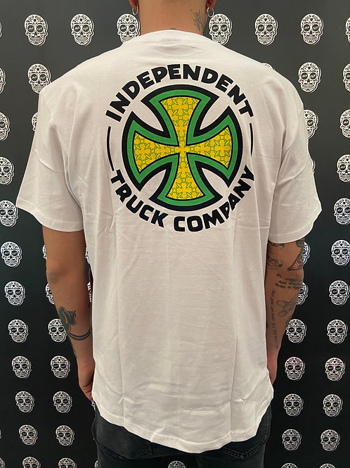 Independent repeat cross tee white