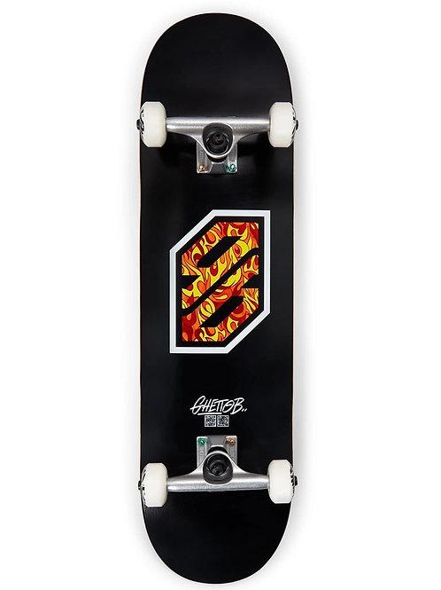 """Ghettoblaster skateboard completo flame white 8.25"""""""