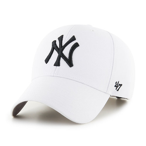 47 brand new york cap white