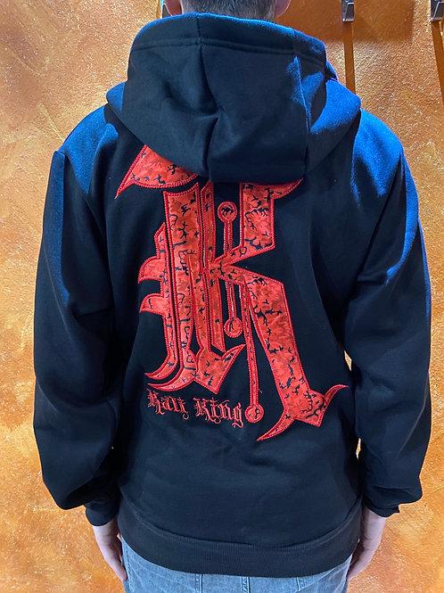 Kaliking hoodie zip black/red