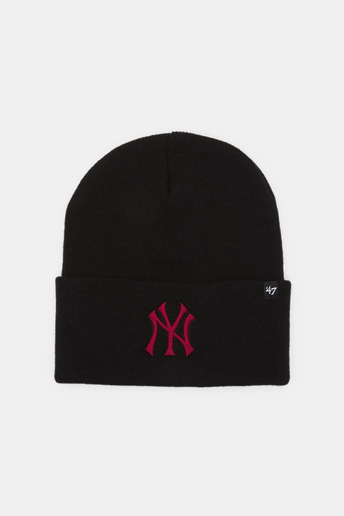 47' brand beanie new york yankees black/red