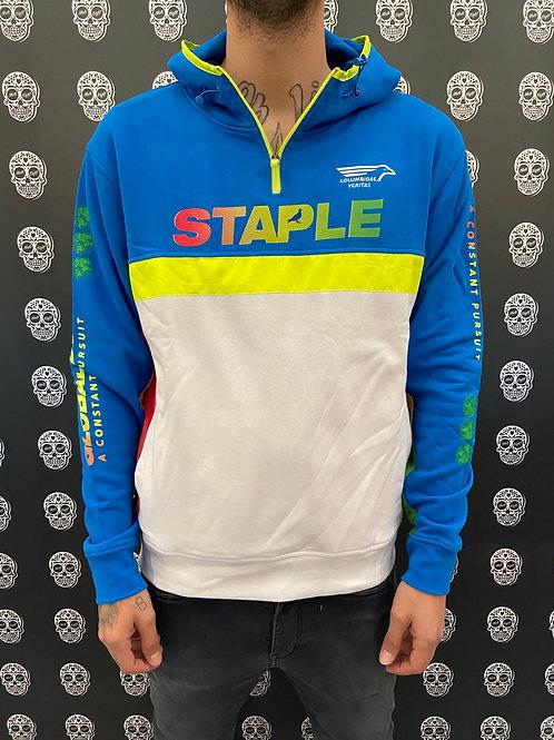 Staple logo color hoodie