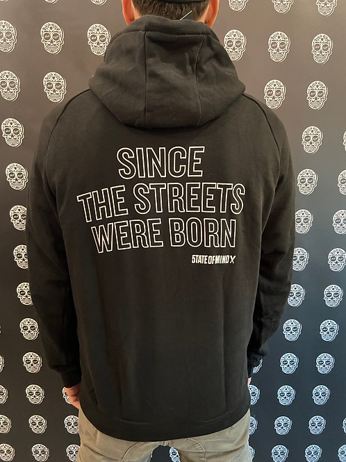 5tate of Mind hoodie reflective black