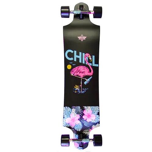 Dusters California Chill Black longboard  38″x 9.75″
