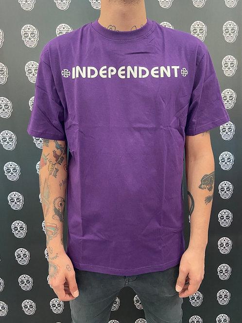Independent bar cross tee purple