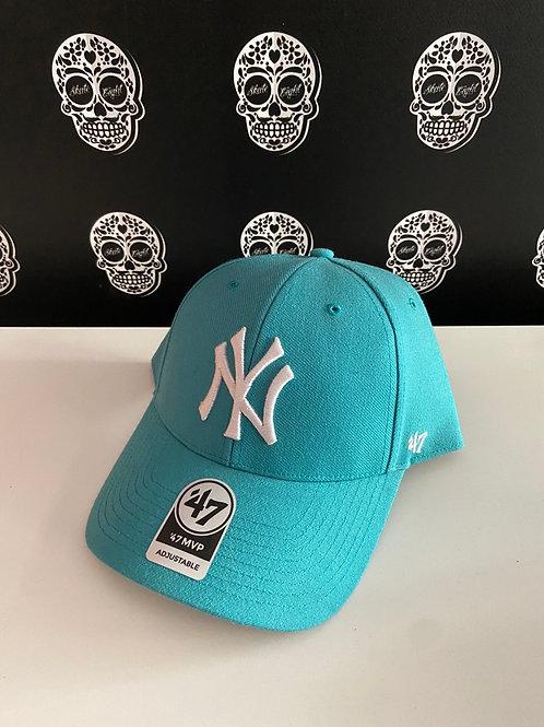 47' brand cap newyork yankees cyan