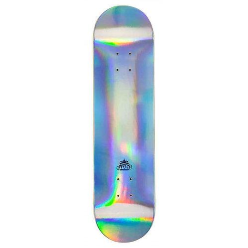 Sushi skateboards pagoda foil deck silver