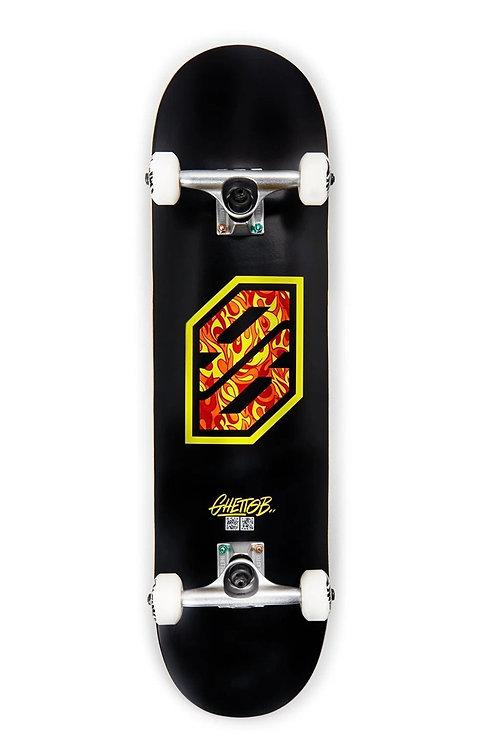 "Ghettoblaster skateboard completo flame yellow 8.125"""