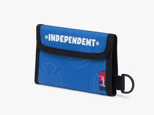 Independent x Herschel fairway wallet blue new