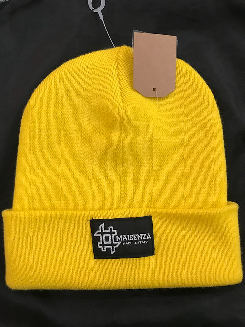 #maisenza cappellino di lana yellow