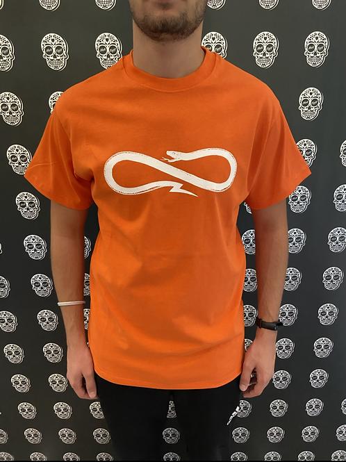 Propaganda orange logo tee