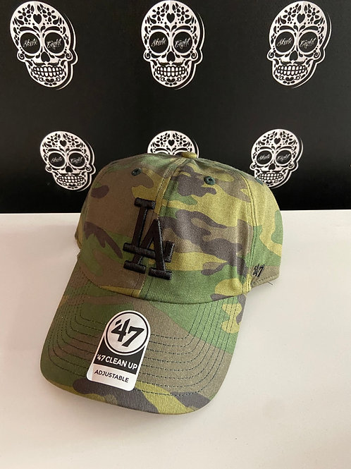 47' brand cap los angeles dodgers camo/black