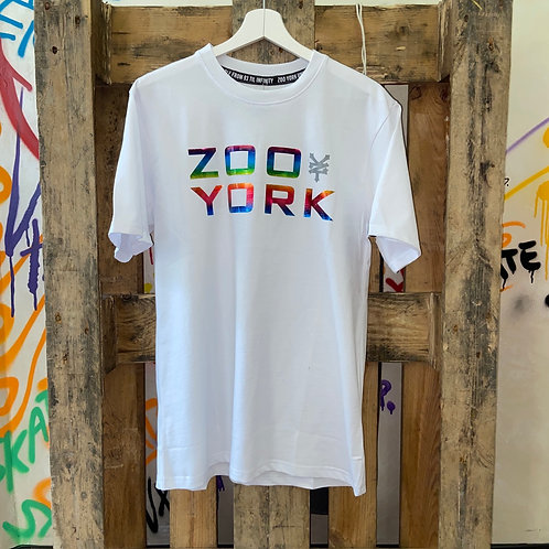 Zoo York t-shirt classic logo rainbow white