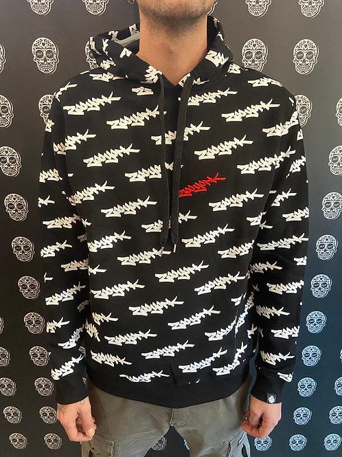 Zoo York hoodie multi logo black