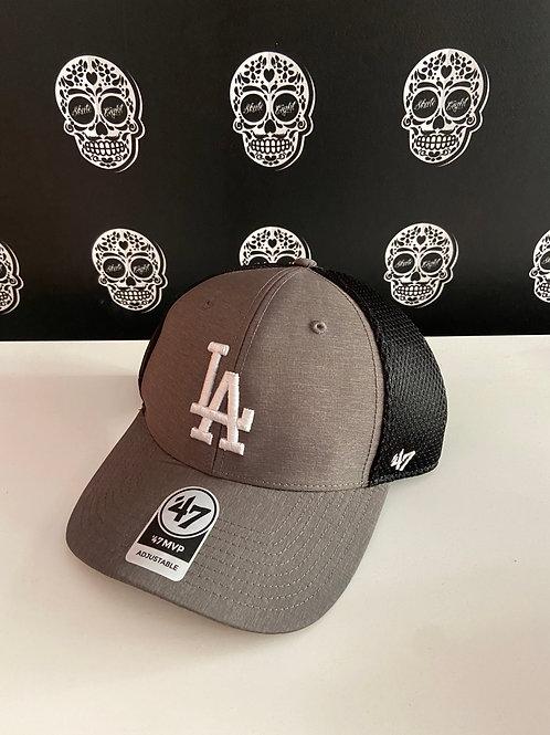 47' brand cap trucker los angeles dodgers grey/black