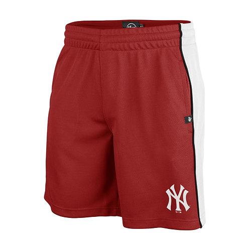 47 brand imprint graffton shorts new york yankees red