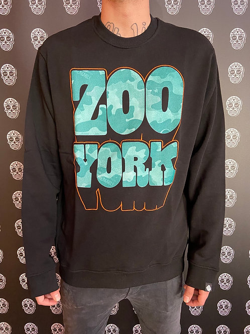 Zoo York crewneck bombing logo black