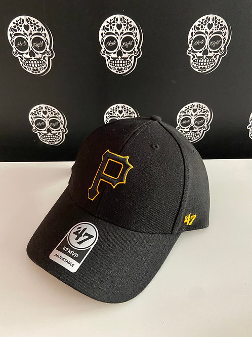 47' brand cap pittsburgh pirates black