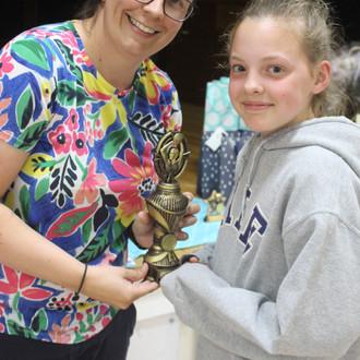 Award winner Lucy