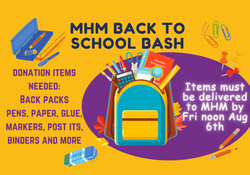Back to School Bash - Donations