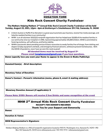 DONOR FORM KIDS ROCK 2021