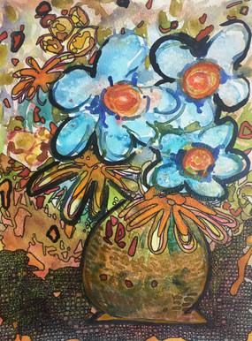 The Blue Bouquet - Le bouquet bleu