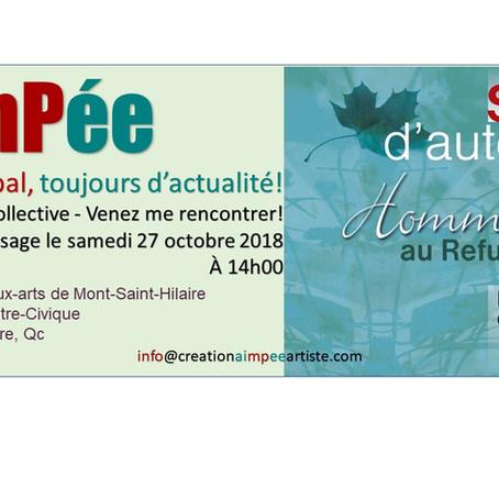 AimPée au Salon d'automne - Hommage au Refus Global