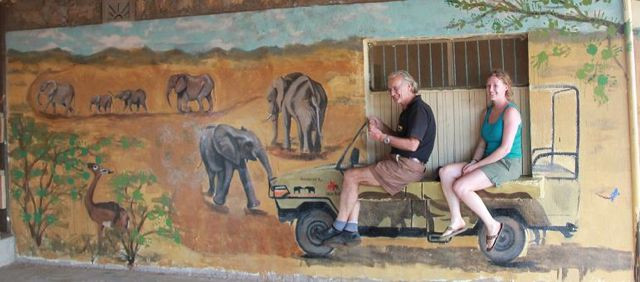 WESTGATE SCHOOL WALL PAINTING, SPONSORED BY SAVE THE ELEPHANTS AND ELEPHANT WATCH SAFARIS
