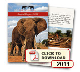 FEATURE IN SAVE THE ELEPHANTS ANNUAL REPORT