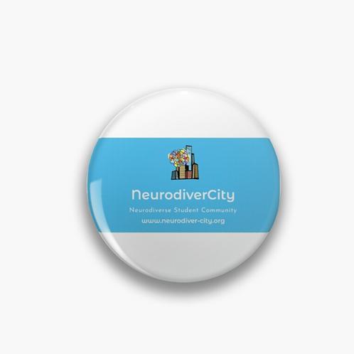 NeurodiverCity - Neurodiverse Student Community Pin