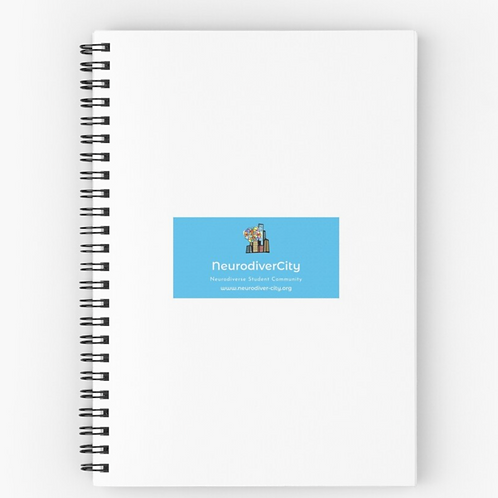 NeurodiverCity Spiral Notebook