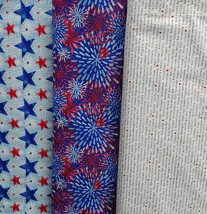 One Land, One Flag fabric bundle
