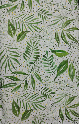 Moody Blooms green leaf fabric by the yard
