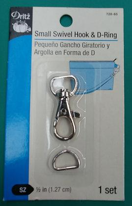 "Mini Swivel Hook and ""D"" Ring"