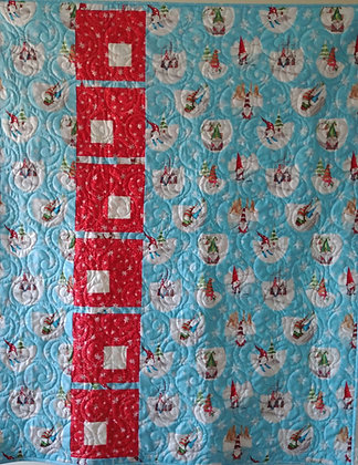 Gnoming Through the Snow ready-made-quilt