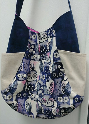 241 Tote with owl print kit