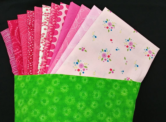 A Dozen Roses fabric bundle