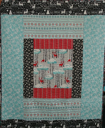 Deer in the Woods ready-made quilt