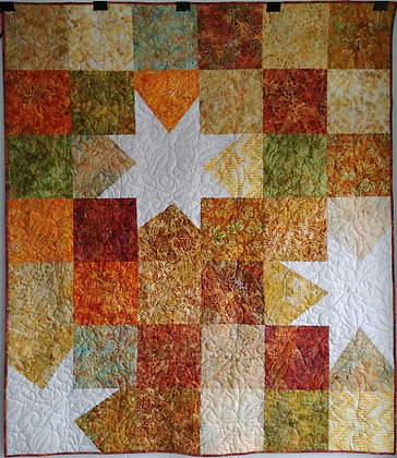 Big Wonky Star ready-made-quilt