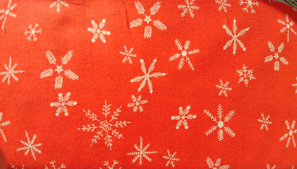 Frost red snowflake print