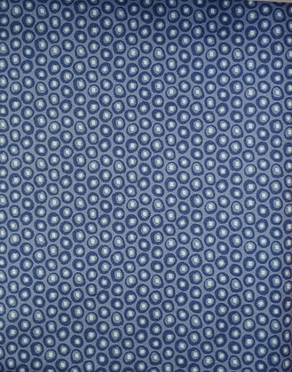 The Rain in Spain blue circles fabric by the yard
