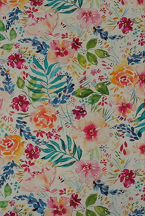 Brightly Blooming Floral in cotton
