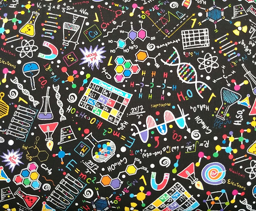 Science Geek fabric by the yard