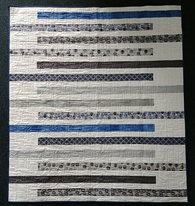 Blue Strippy ready-made-quilt