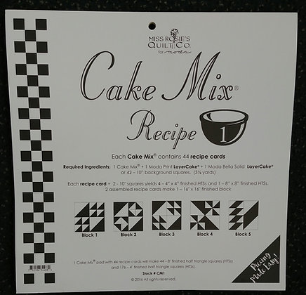 Cake Mix Recipe #1 foundation papers
