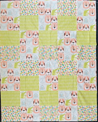 Lions and Tigers baby quilt kit